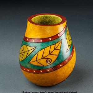 spring leaves vase copy